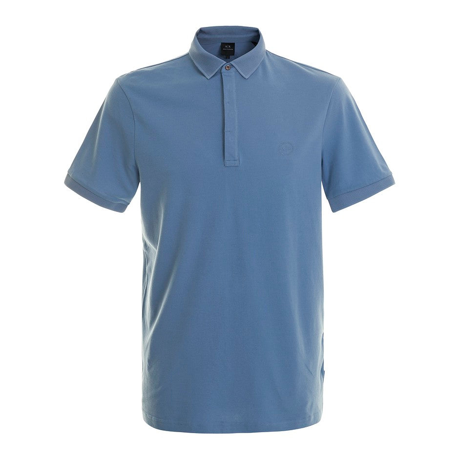 Slim Fit Polo for Men in Blue