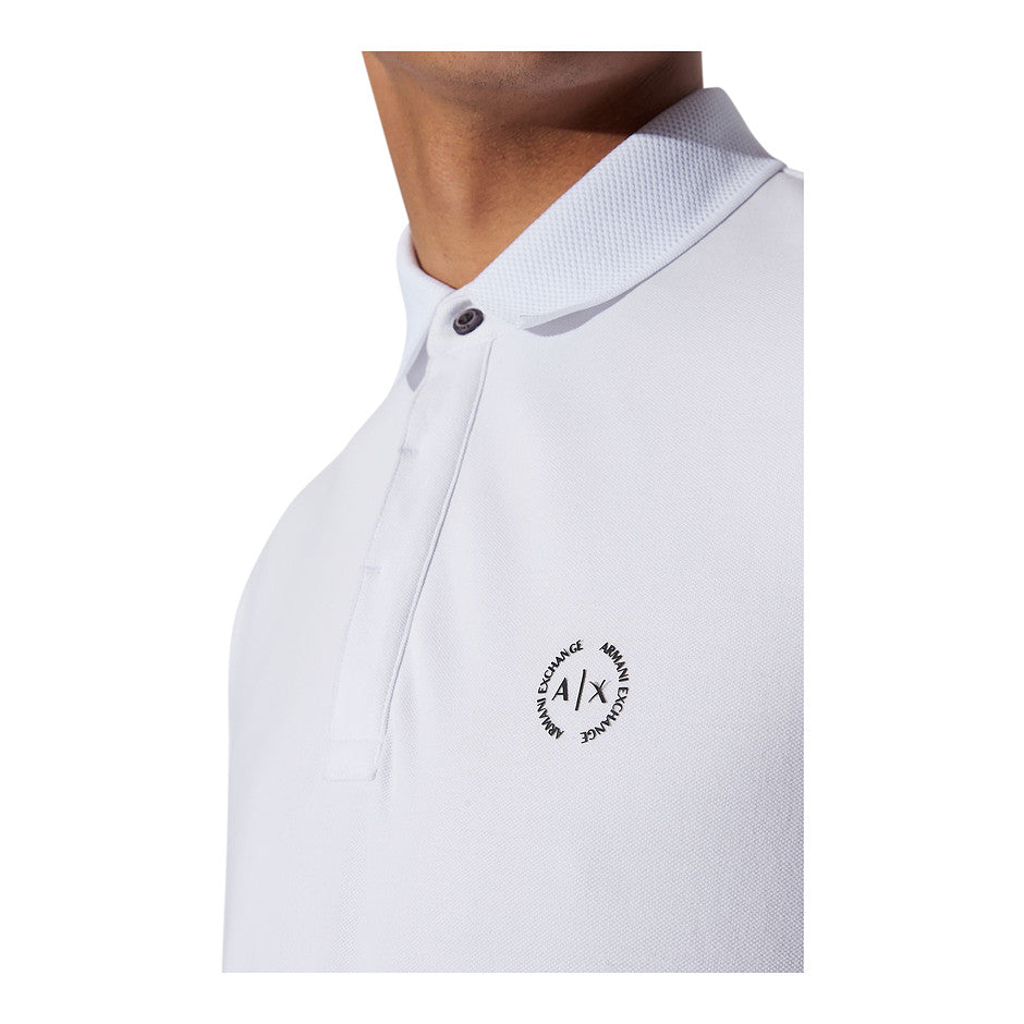 Slim Fit Polo for Men in White