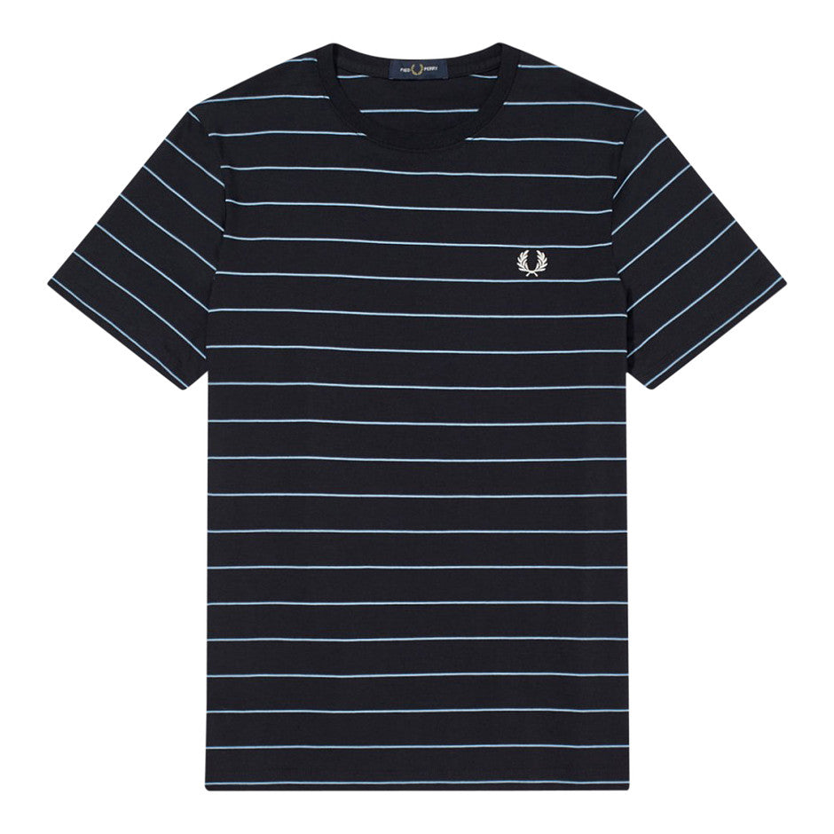 Fine Stripe T-Shirt for Men in Navy