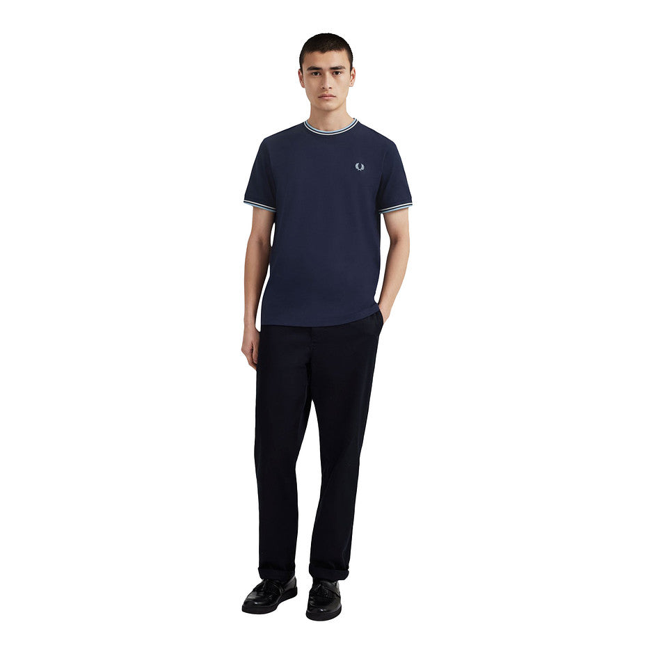 Twin Tipped T-Shirt for Men in Navy