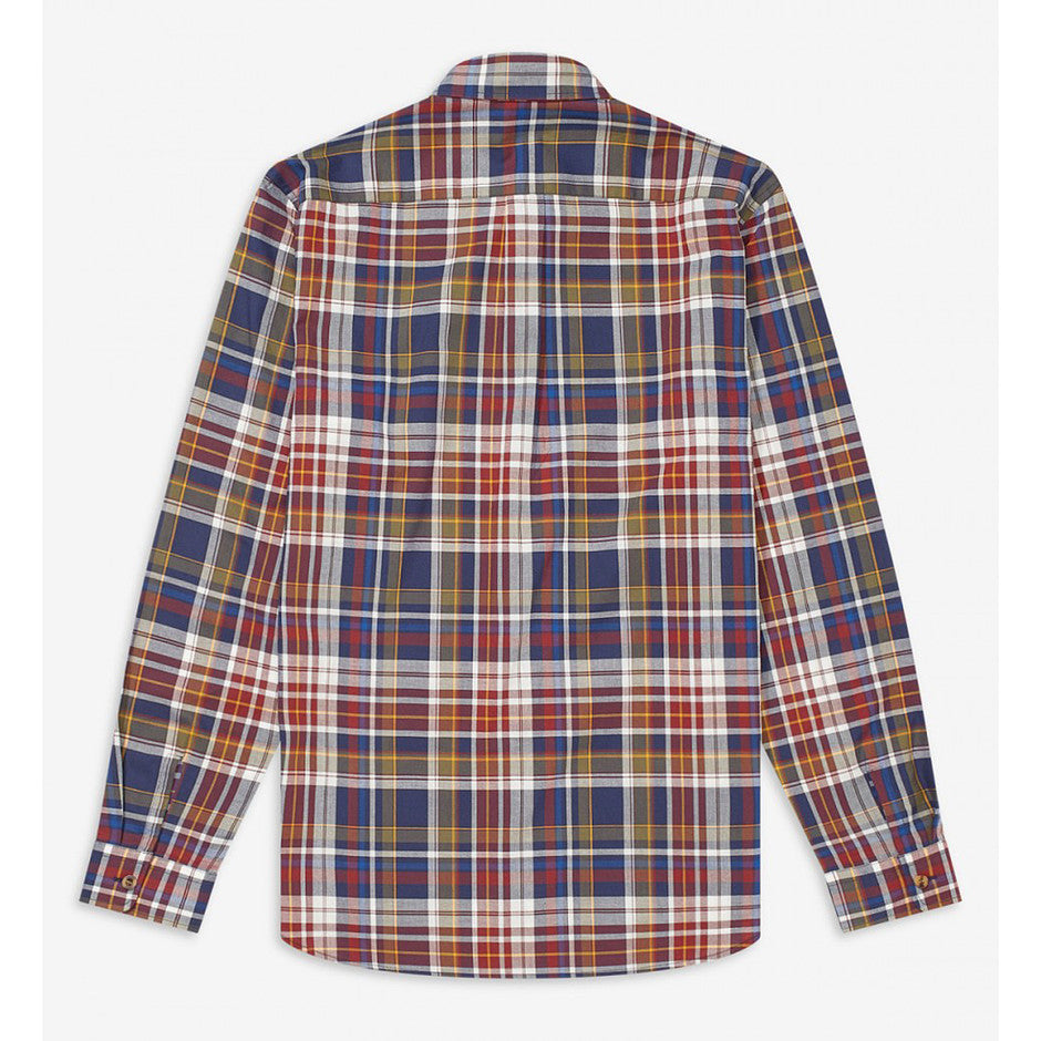 Long Sleeve Check Shirt for Men in Navy