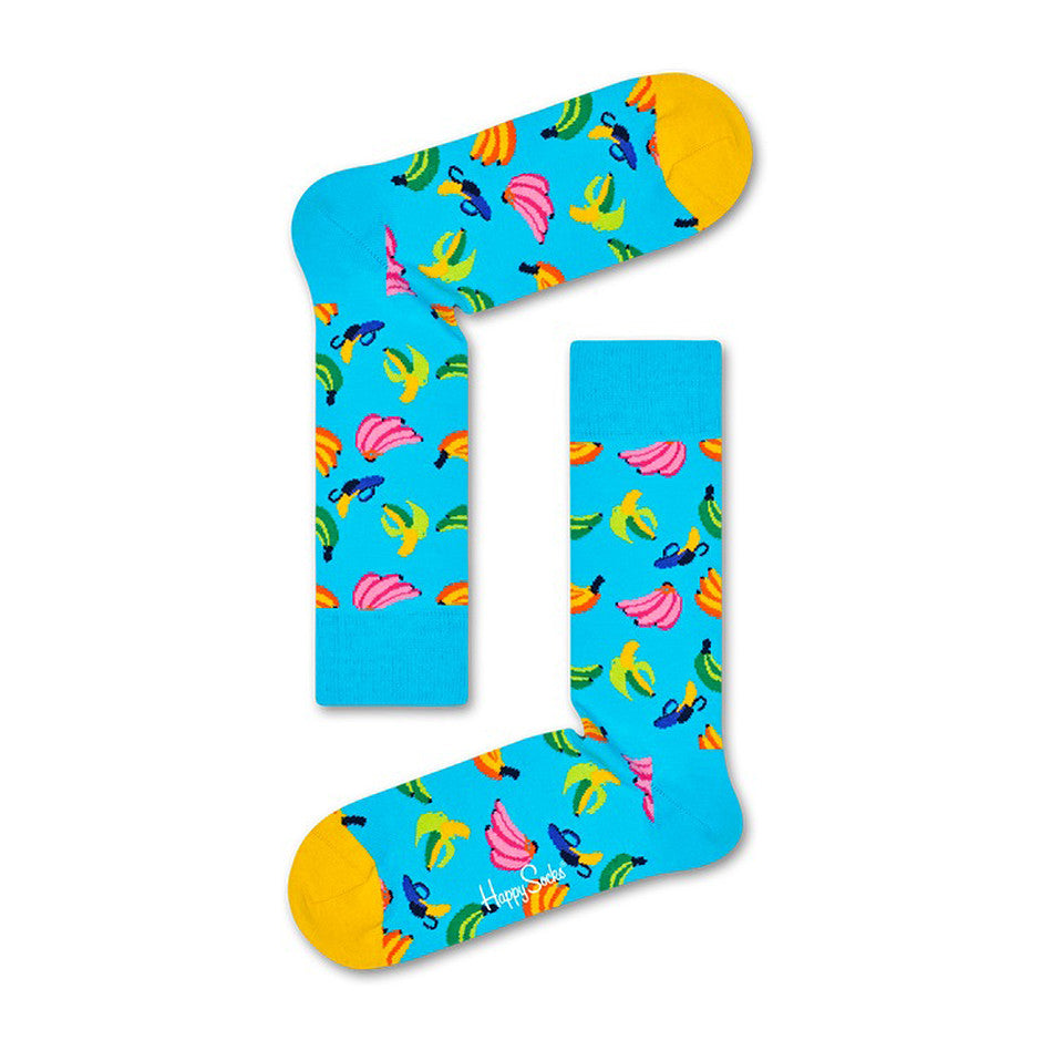 Banana Socks for Men in Blue