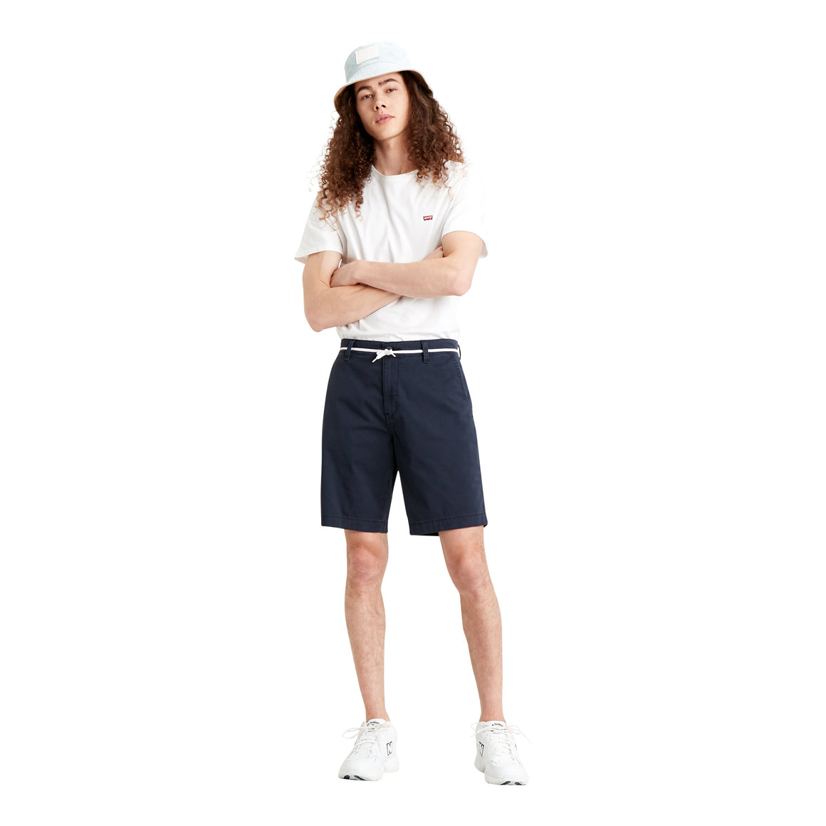 XX Chino Taper Short for Men in Navy