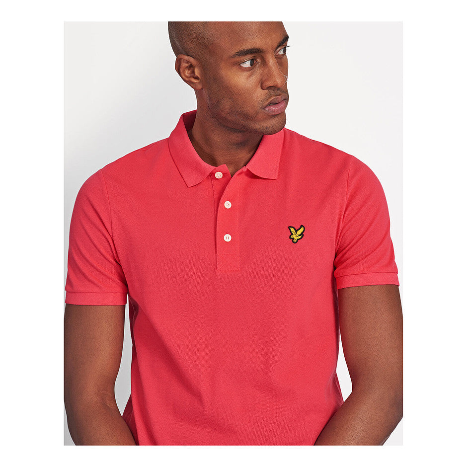 Plain Polo Shirt for Men in Bright Red