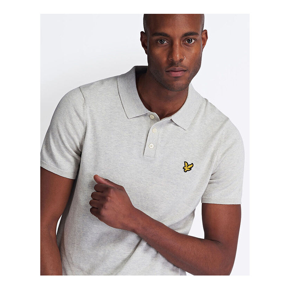 SS Knitted Polo for Men in Grey