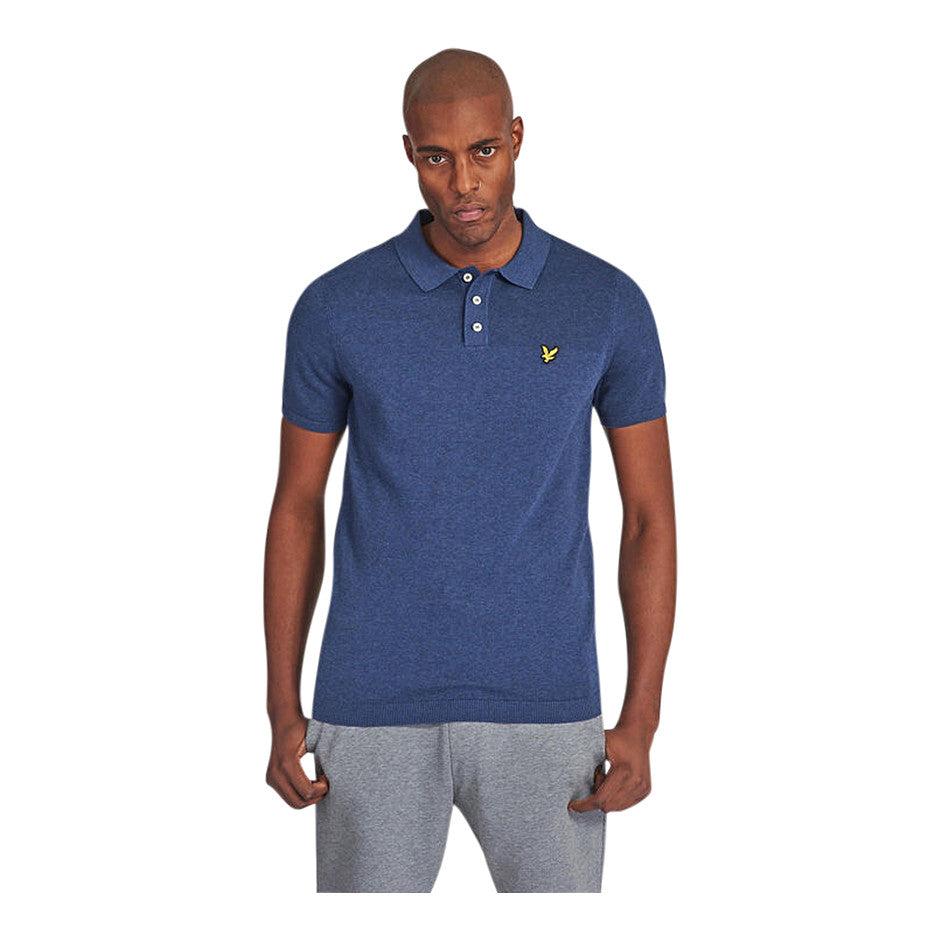 SS Knitted Polo for Men in Navy