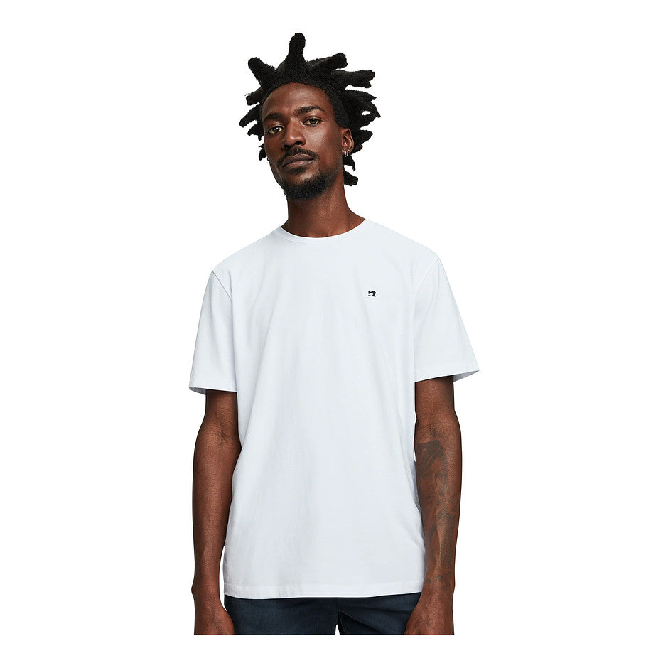 Plain S/S Tee for Men in White
