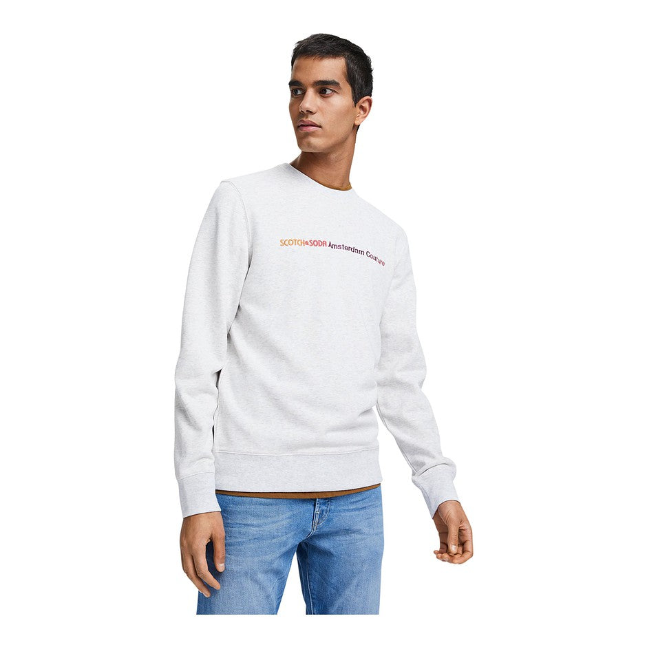 Logo Sweatshirt for Men in Grey
