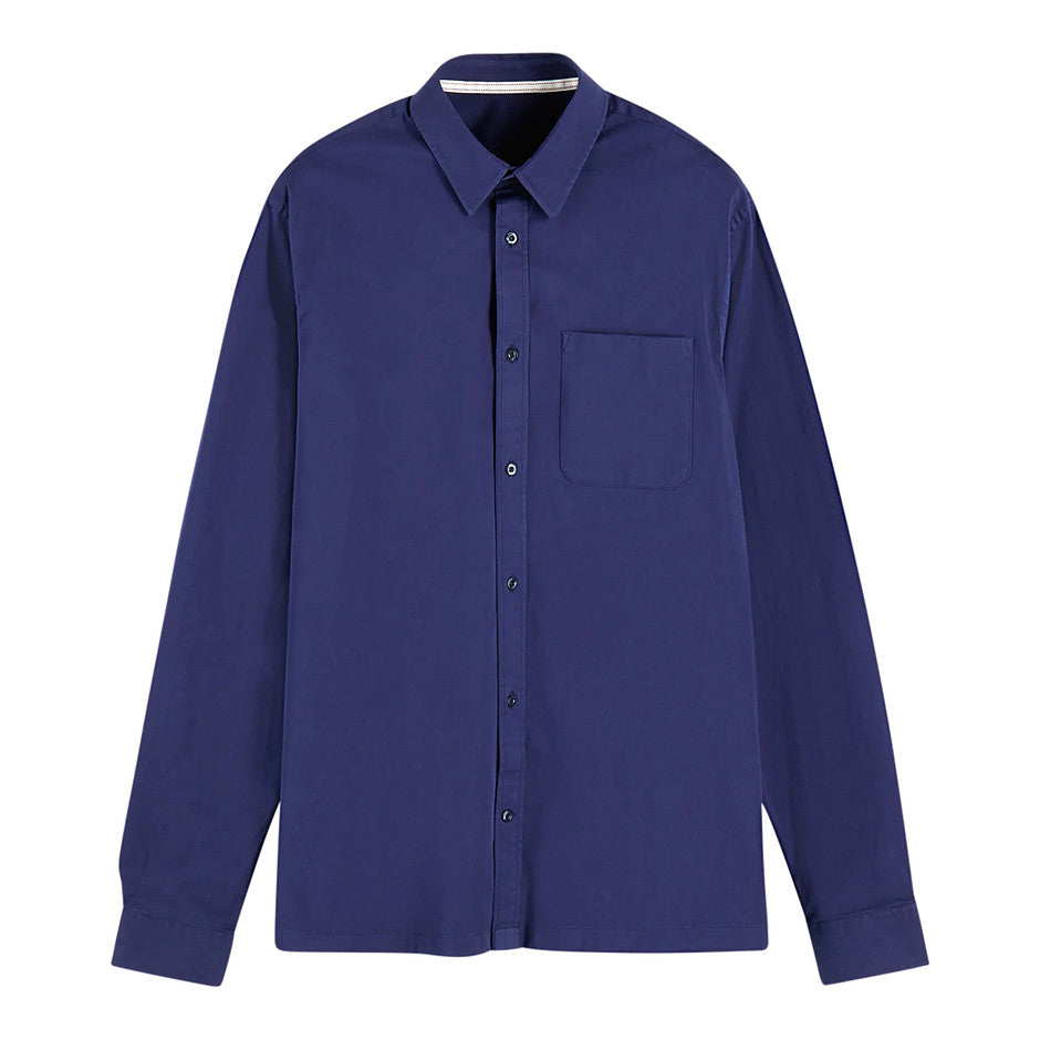 Long Sleeve Twill Shirt for Men in Navy