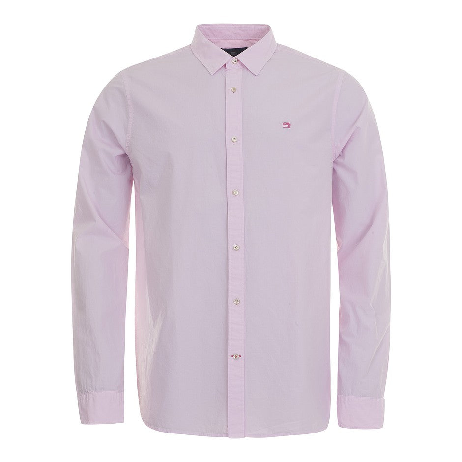 Long Sleeve Plain Shirt for Men in Pink