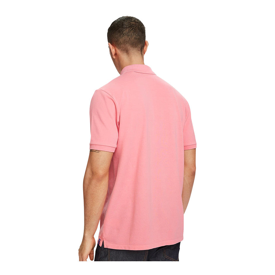 Short Sleeve Polo for Men in Pink