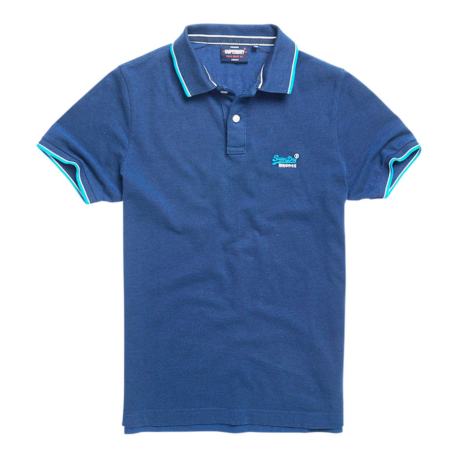 Poolside Pique Short Sleeved Polo for Men in Eclipse Navy