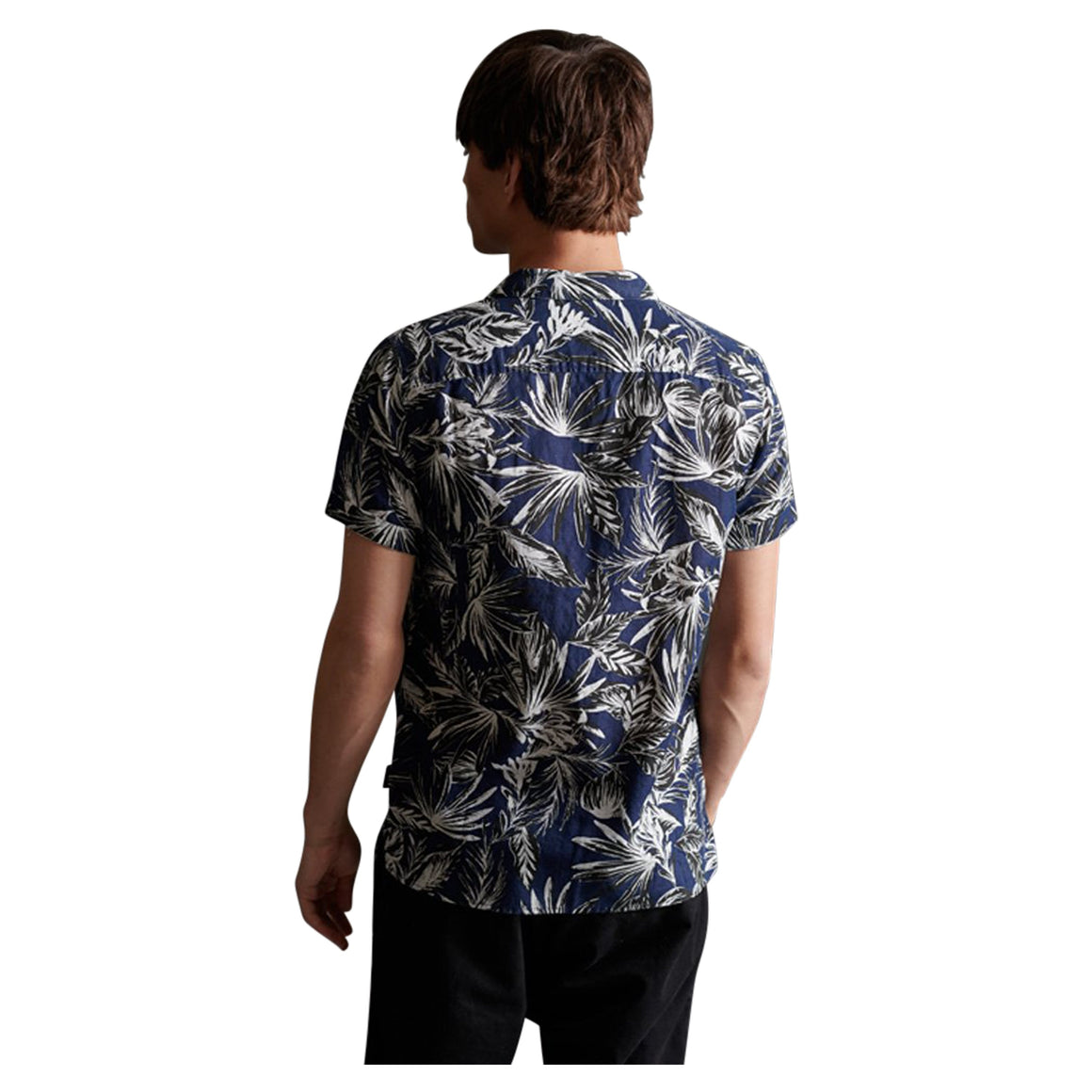 Edit Cabana Short Sleeve Shirt for Men in Navy