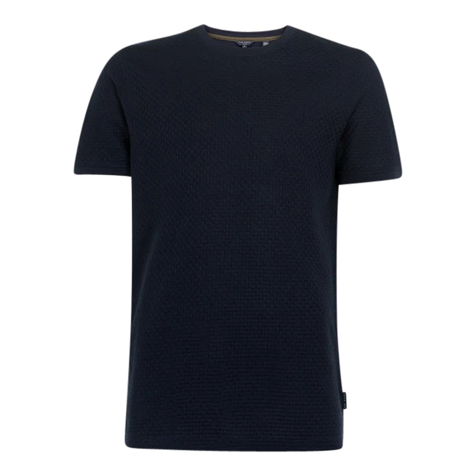 Texture Knit Tee for Men in Navy