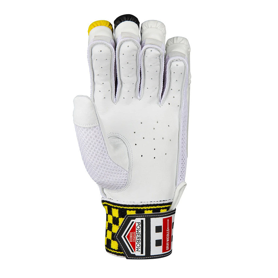 Powerbow Inferno Thunder Cricket Glove R/H in Yellow & Black