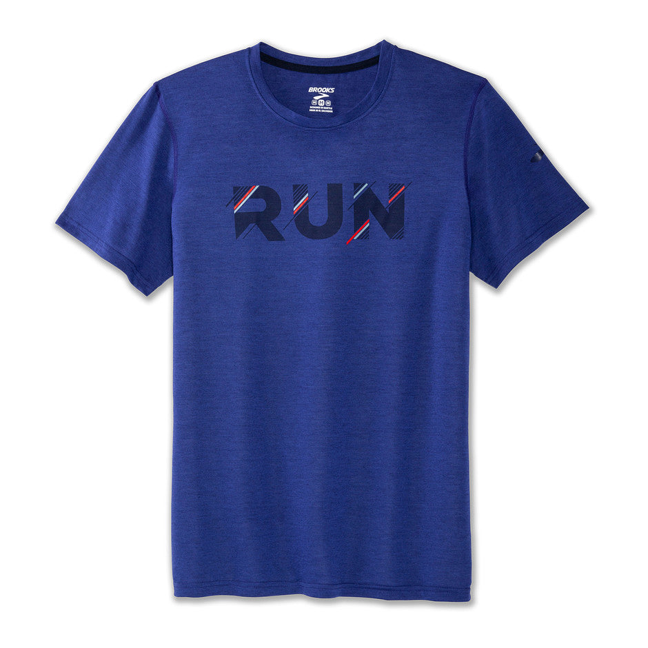 Distance Graphic Tee for Men in Navy
