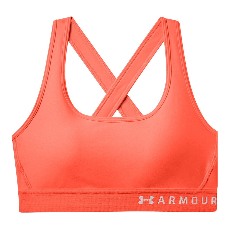 Armour Mid Crossback Bra for Women in Pink