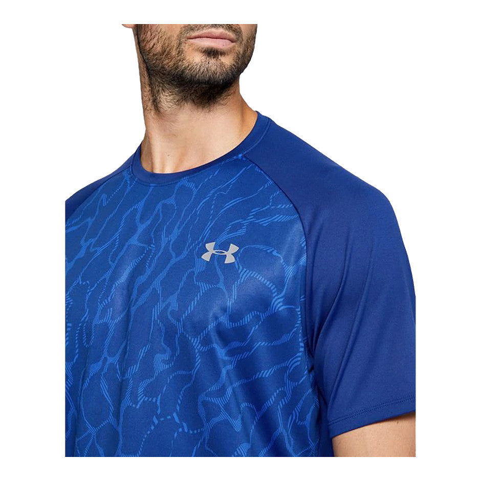 UA Tech 2.0 Vibe SS Tee for Men in Blue