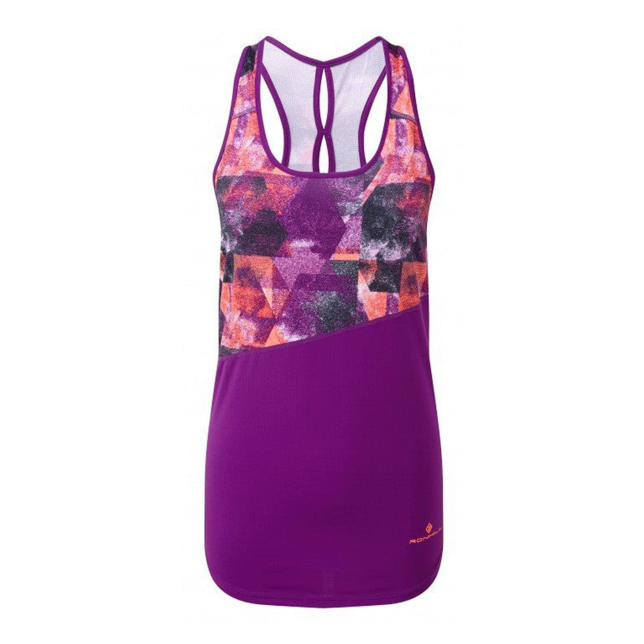 Stride Revive Racer Vest for Women in Grape Juice & Coral
