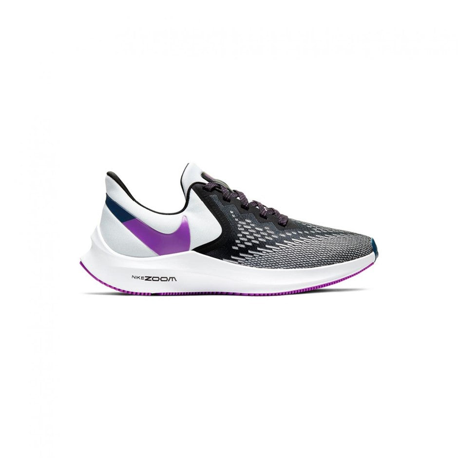 Air Zoom Winflo 6 Running Shoes for Women in Black/Vivid Purple-photon Dust