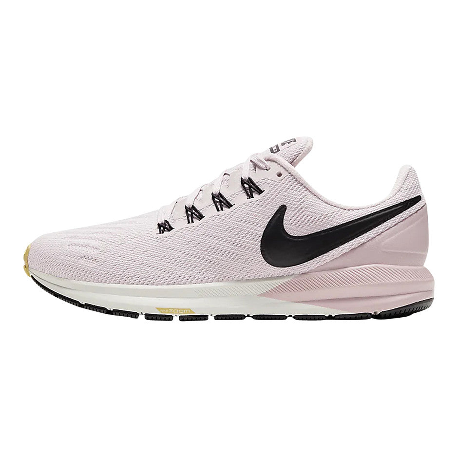 Air Zoom Structure 22 Running Shoe for Women in Platinum Violet/Black-Plum Chalk