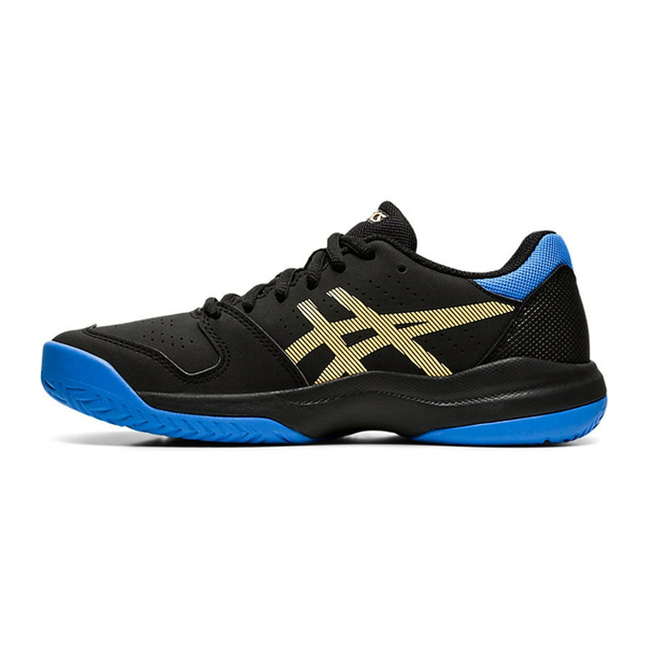 Gel-Game 7 GS Trainers for Kids in Black & Blue