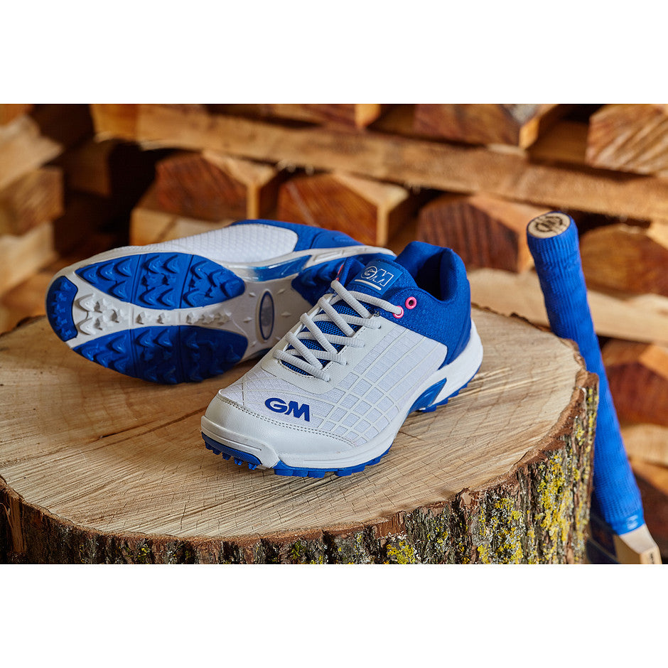 Original All Rounder Cricket Shoes for Adults and Kids in White & Royal