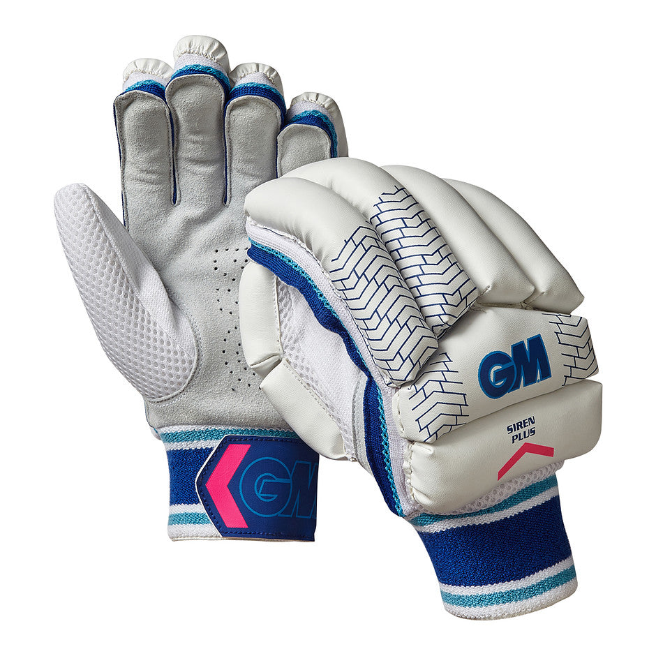 Siren Plus R/H Batting Gloves for Kids and Youths in White