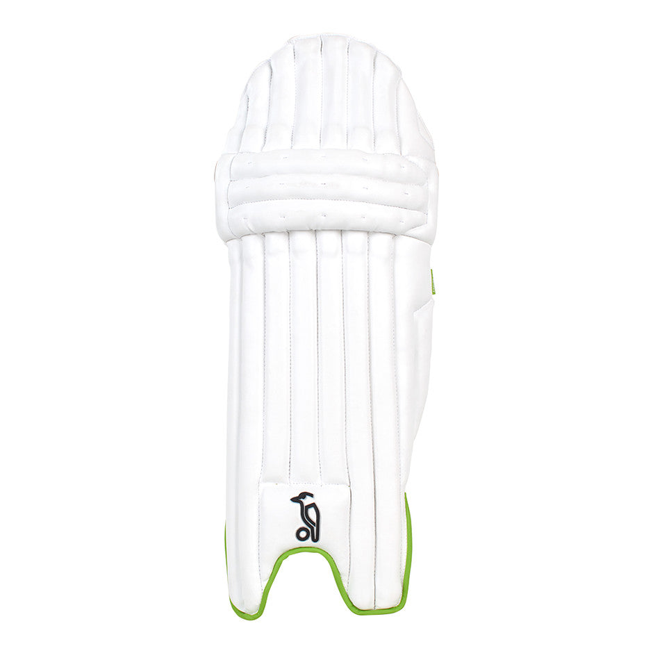 Kahuna 4.1 R/H Batting Pads for Adults and Kids in White & Green