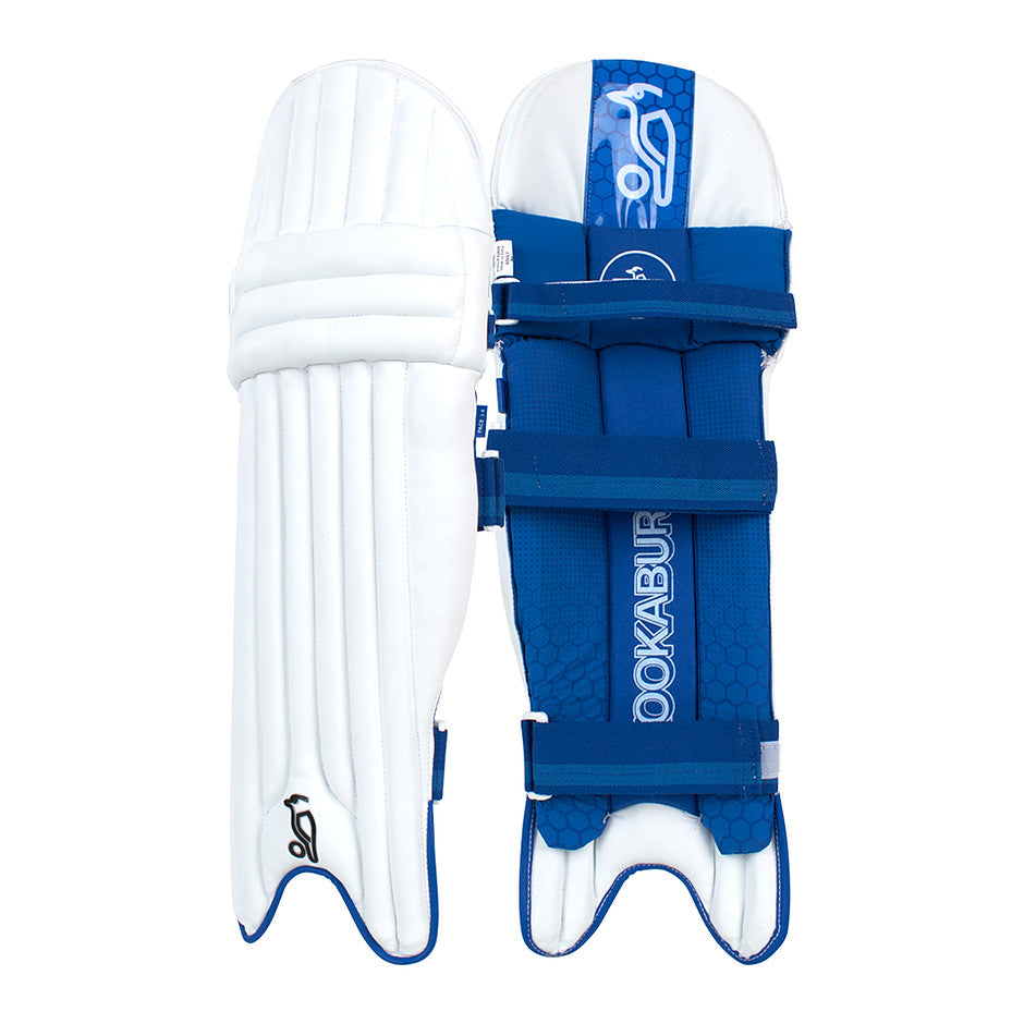 Pace 3.4 R/H Batting Pads for Adults and Kids in White & Royal