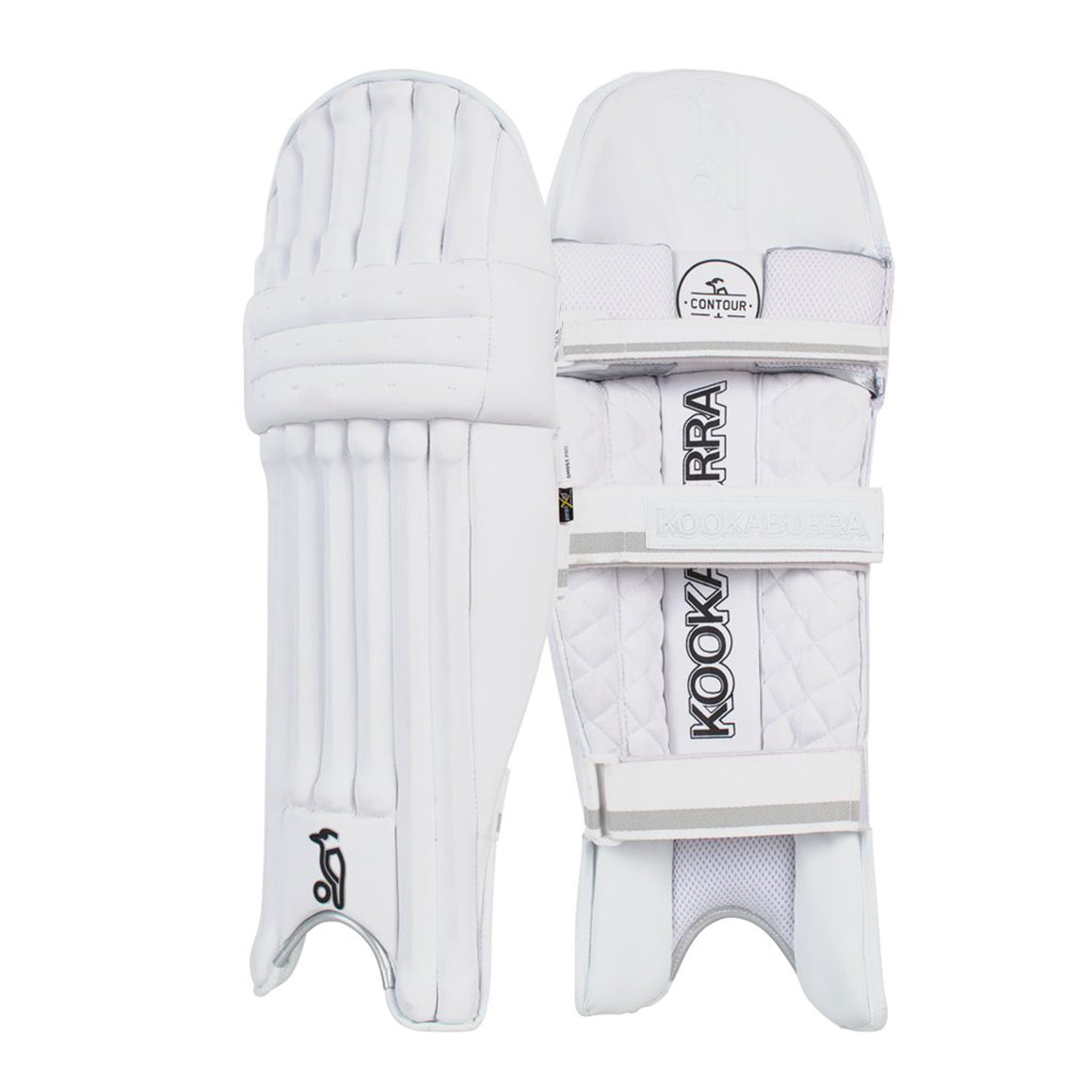Ghost 3.2 R/H Batting Pads for Kids in White & Silver