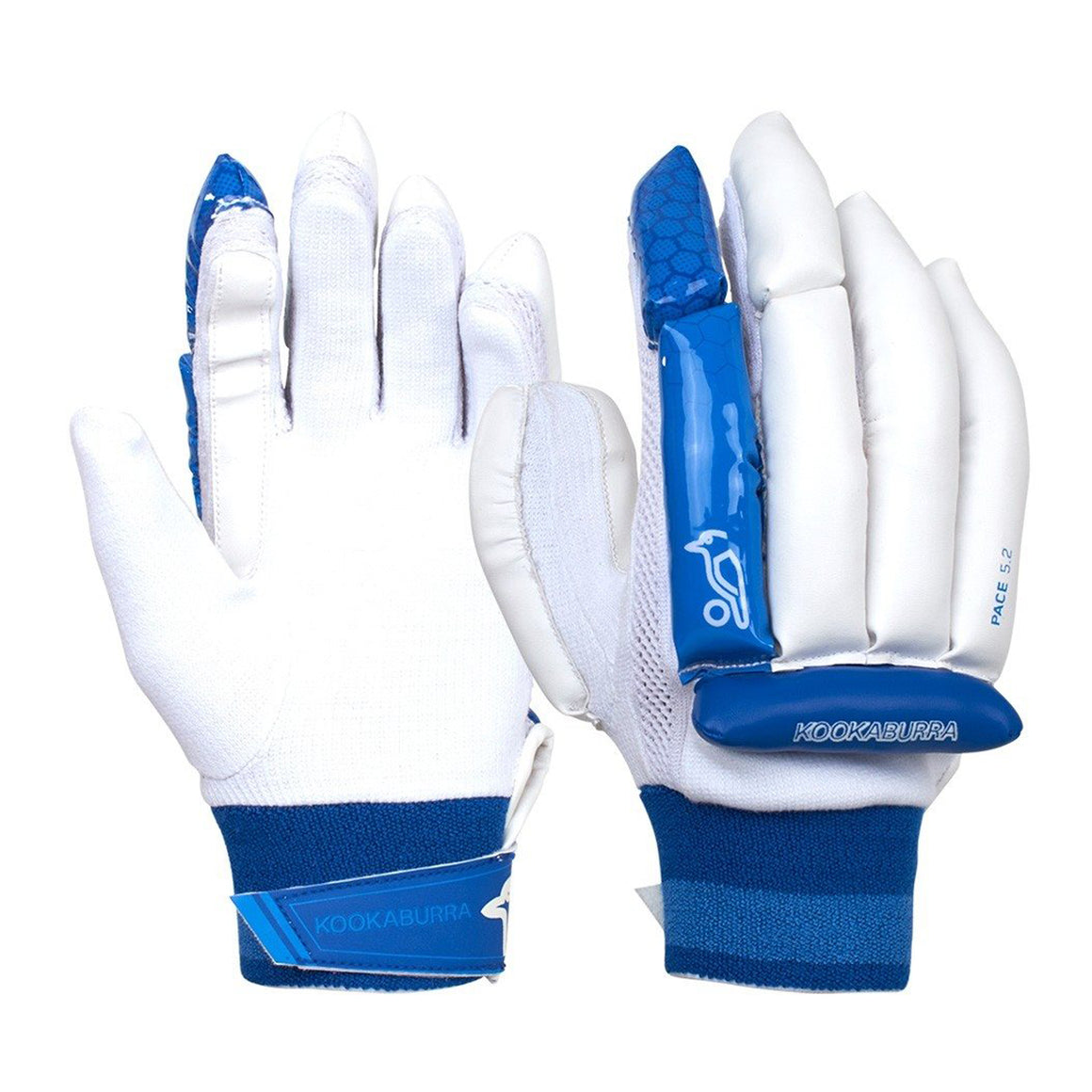Pace 5.2 R/H Batting Gloves for Kids in White & Royal