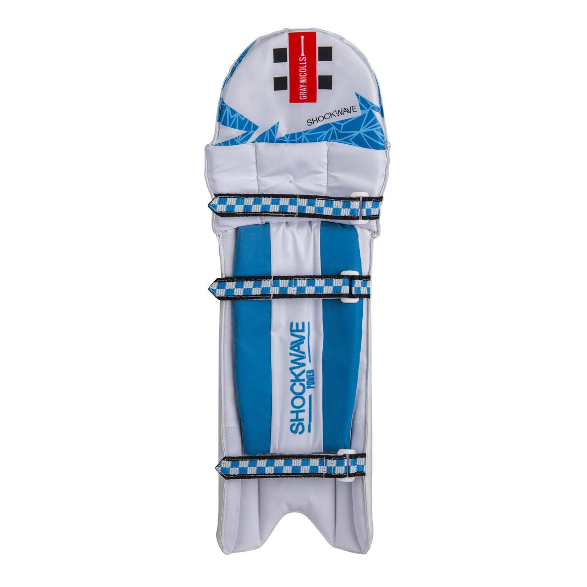 Shockwave Power R/H Pads for Kids in White & Blue