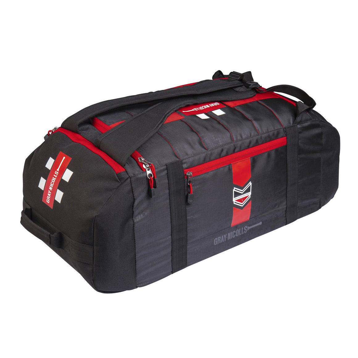 Pro Performance Cricket Bag in Black & Red