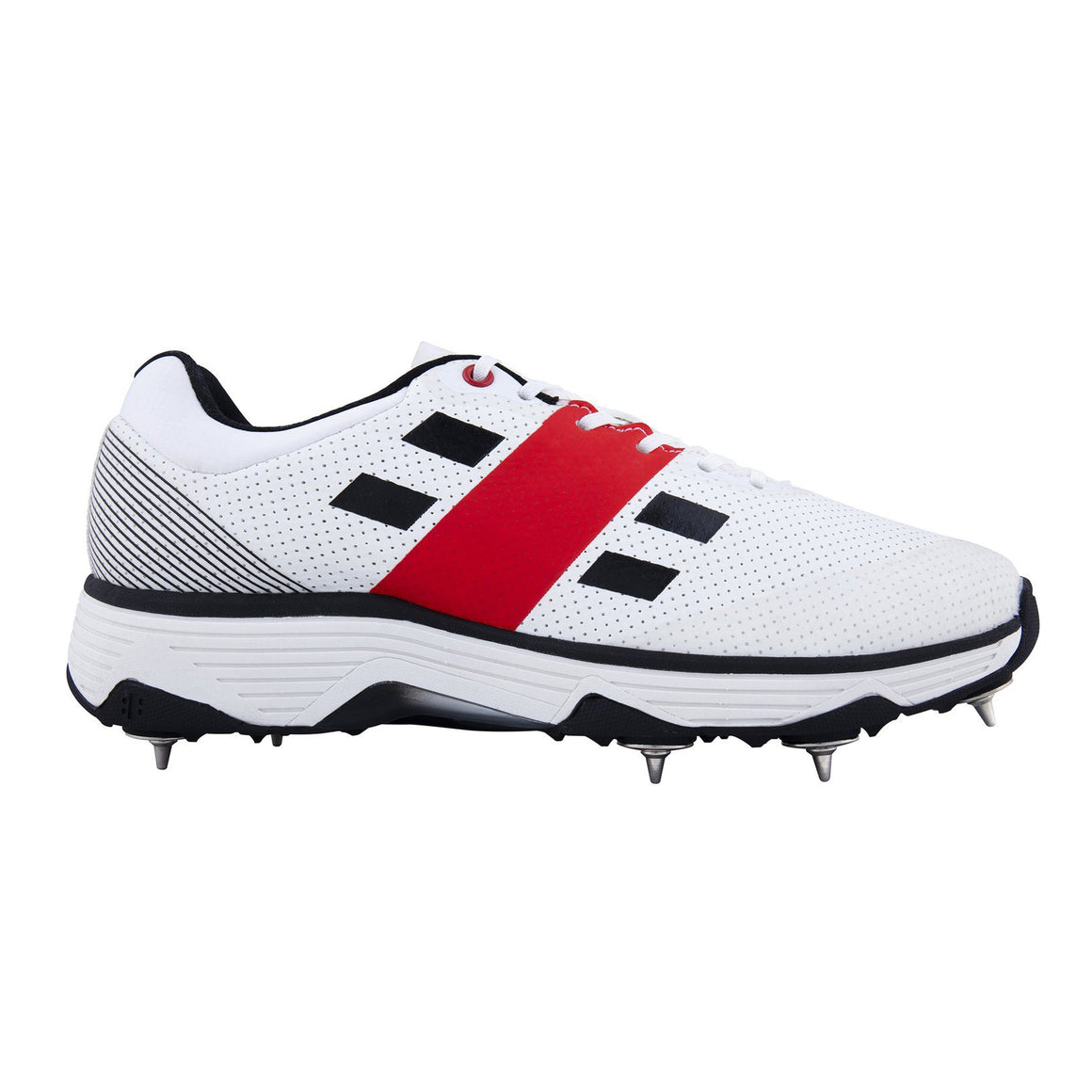 Players Spike Cricket Shoes for Men in White & Black
