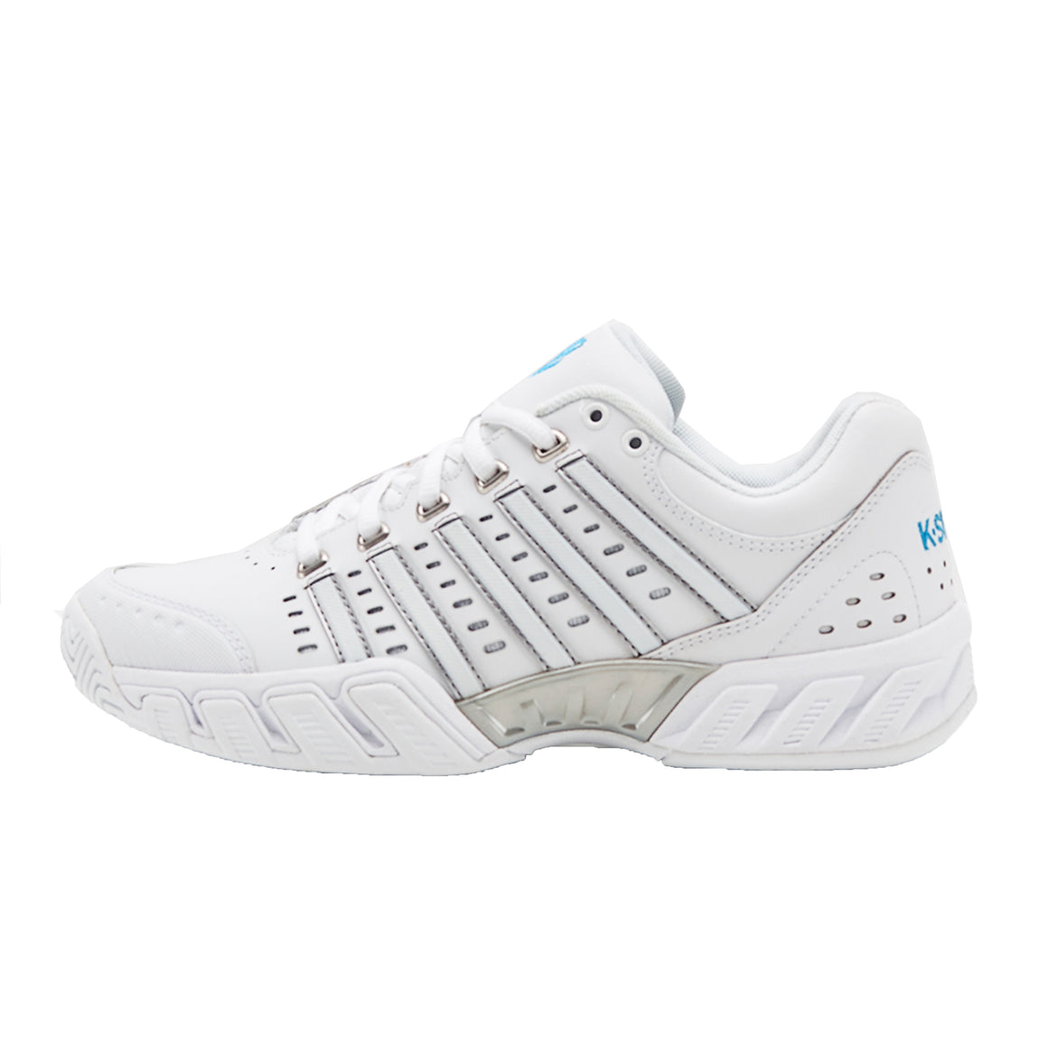 Bigshot Light Leather Trainers for Women in White & Blue