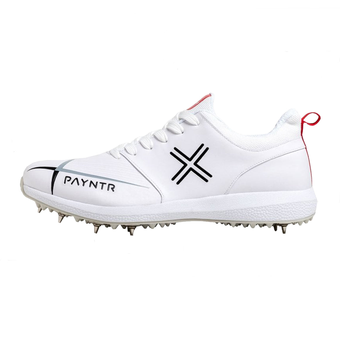 Payntr V Spike Cricket Shoes for Kids in White