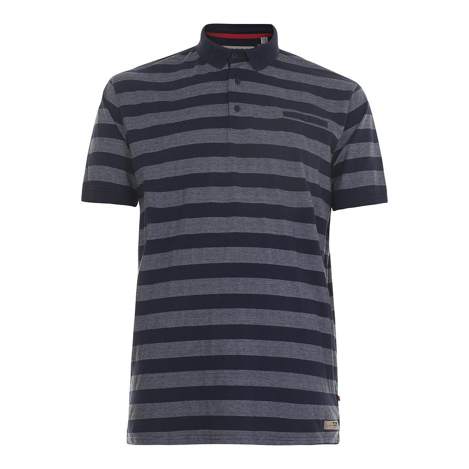 Holt Hooped Polo for Men in Navy