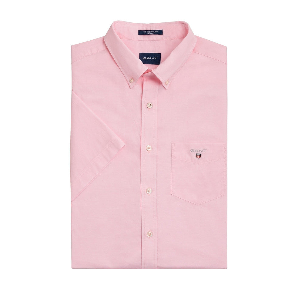 Broadcloth Short Sleeve Shirt for Men in Shadow Rose