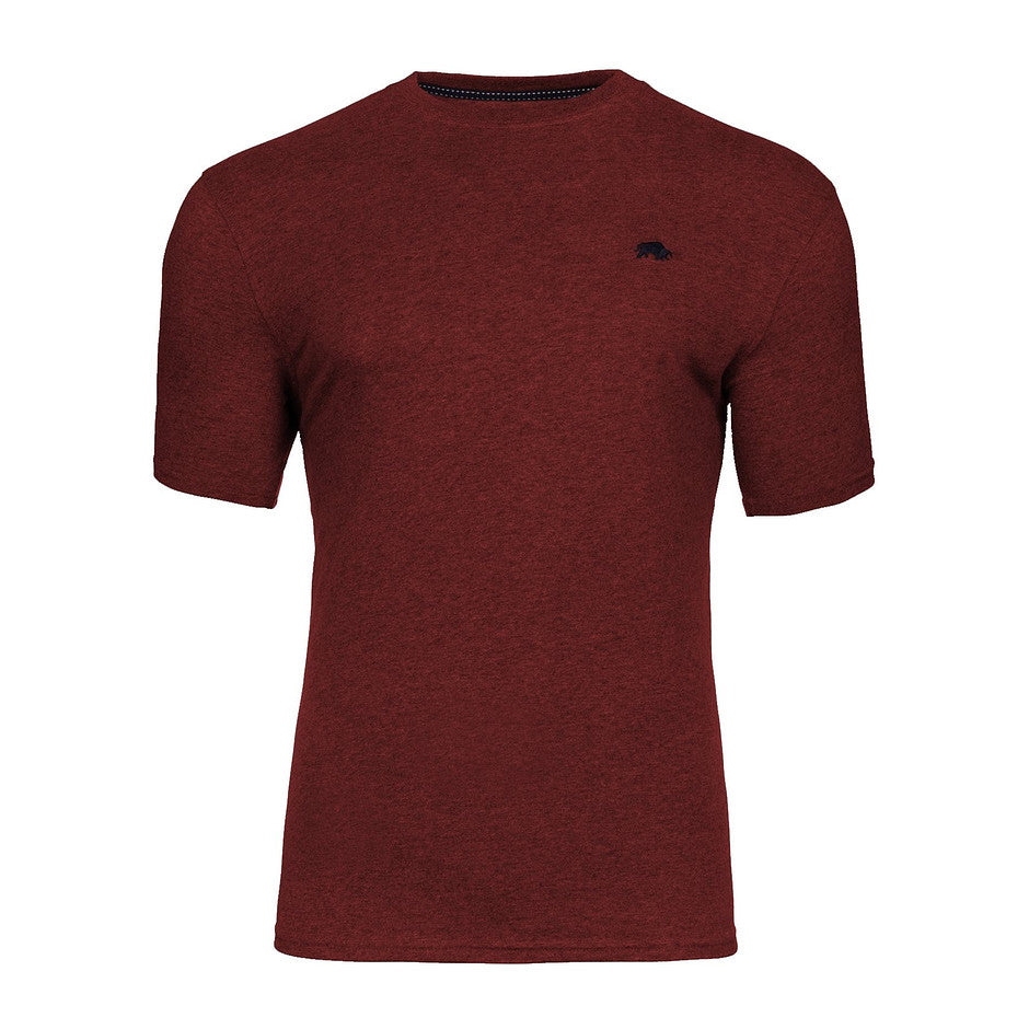 Crew Neck T-Shirt for Men in Deep Red