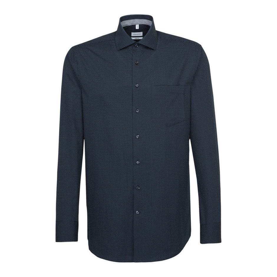 Comfort Fit Spots LS Shirt for Men in Navy