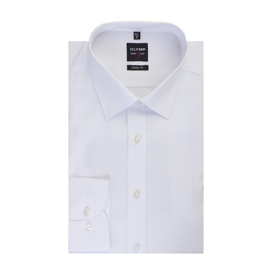 Level Five Body Fit Shirt for Men in White - Extra Tall