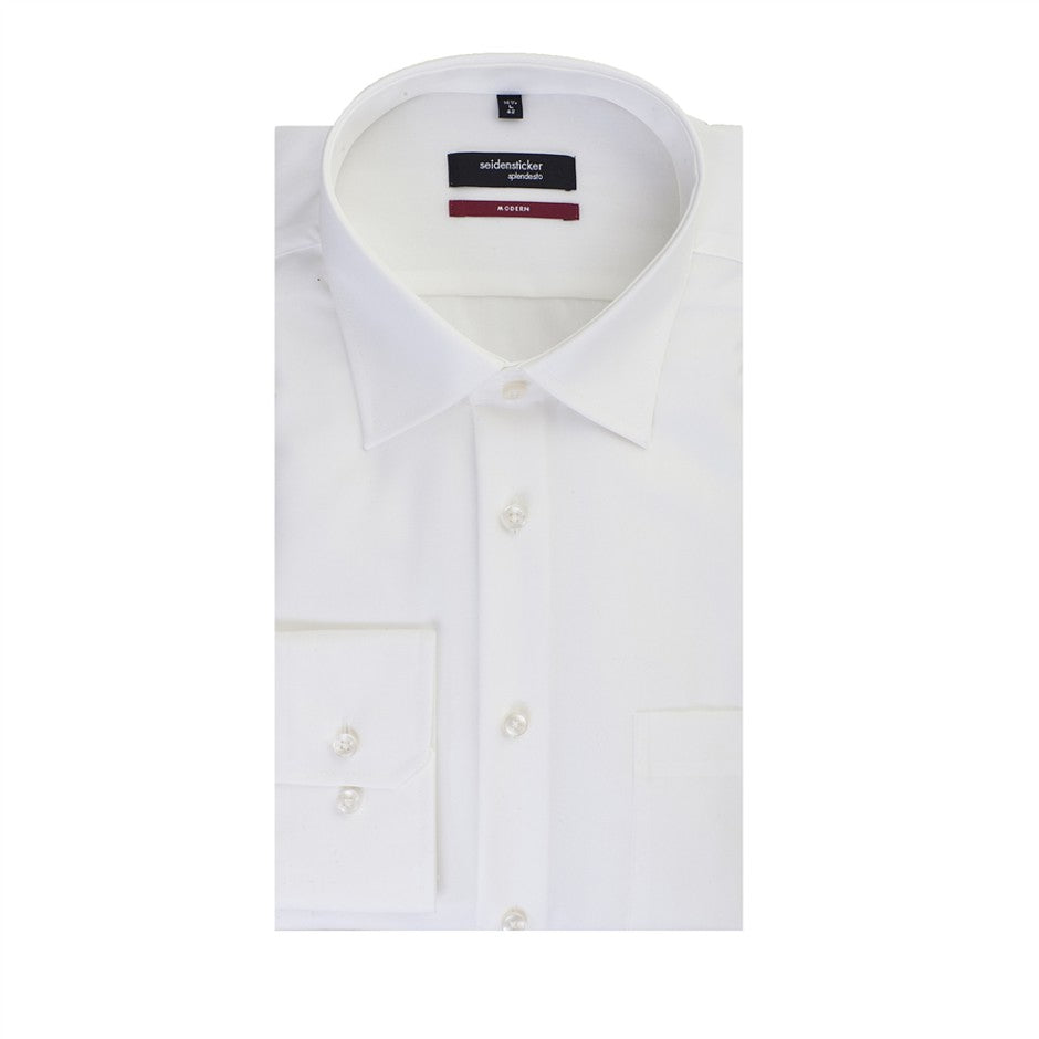 Mens Non-Iron Cotton Shirt in Cream