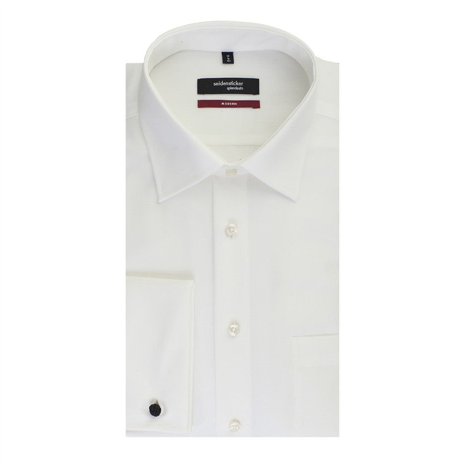 Splendesto Double Cuff Shirt for Men in Cream