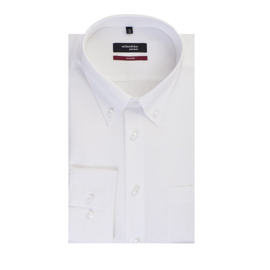White Button Down Collar Shirt