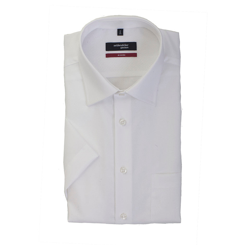 Half Sleeve Shirt for Men in White