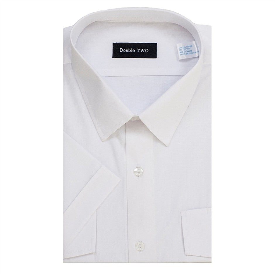 Pilot Short Sleeved Shirt for Men in White