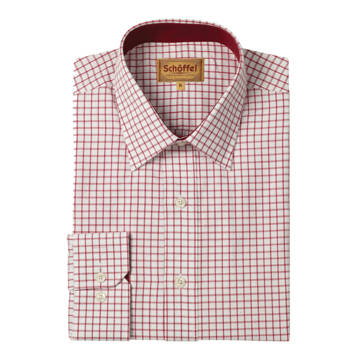 Cambridge Shirt for Men in Deep Red