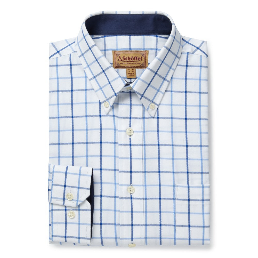 Brancaster Classic Shirt for Men in Blue Check