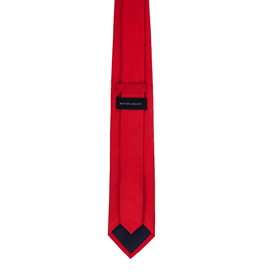 Silk Tie for Men in Bright Red